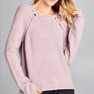 Knit mauve sweater